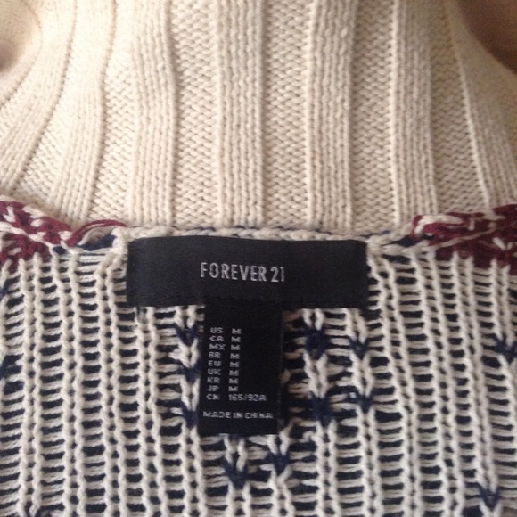 60% off Forever 21 Sweaters - Forever 21 Fair Isle Reindeer ...